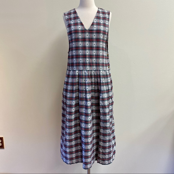 Vintage Dresses & Skirts - vintage red and green plaid dress